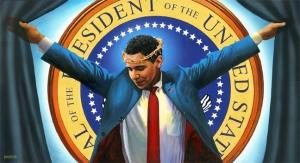 obama crucified